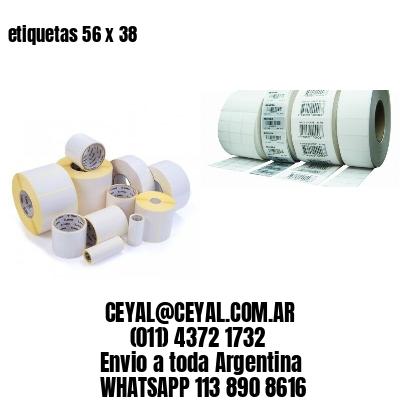 etiquetas 56 x 38