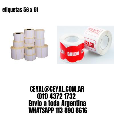 etiquetas 56 x 51
