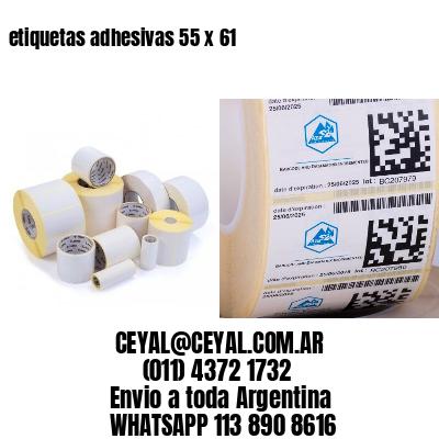 etiquetas adhesivas 55 x 61