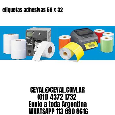 etiquetas adhesivas 56 x 32