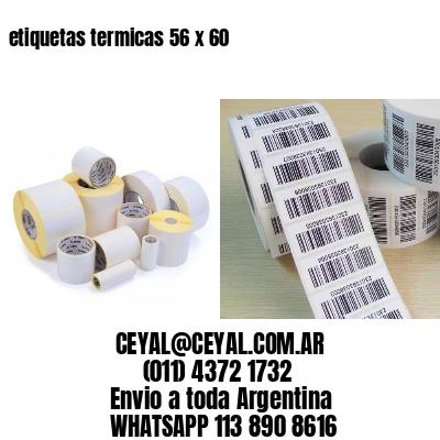 etiquetas termicas 56 x 60