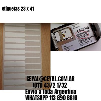 etiquetas 23 x 41