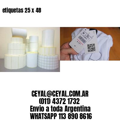 etiquetas 25 x 48