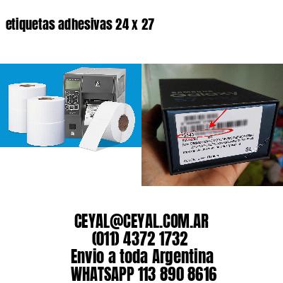 etiquetas adhesivas 24 x 27