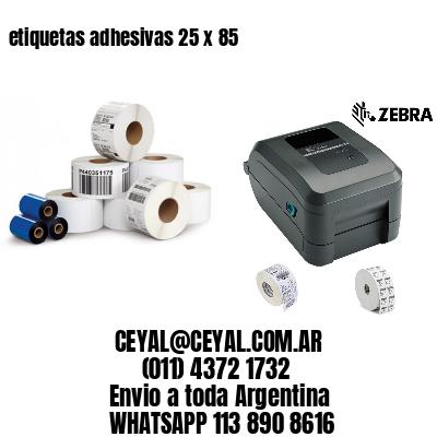 etiquetas adhesivas 25 x 85