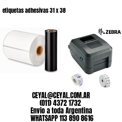 etiquetas adhesivas 31 x 38