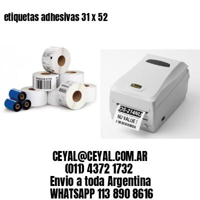 etiquetas adhesivas 31 x 52