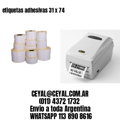 etiquetas adhesivas 31 x 74