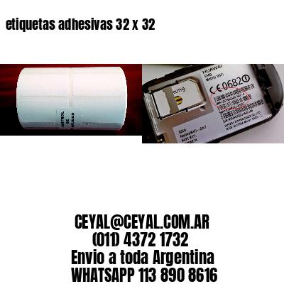 etiquetas adhesivas 32 x 32