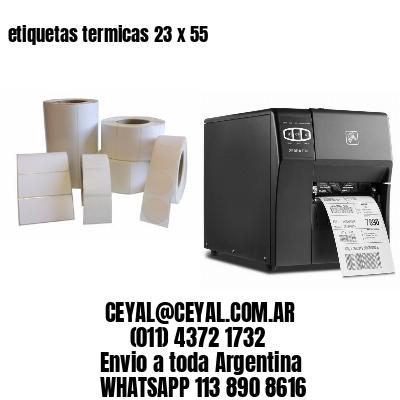 etiquetas termicas 23 x 55