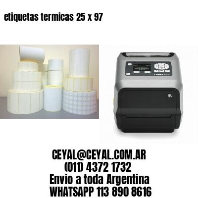etiquetas termicas 25 x 97